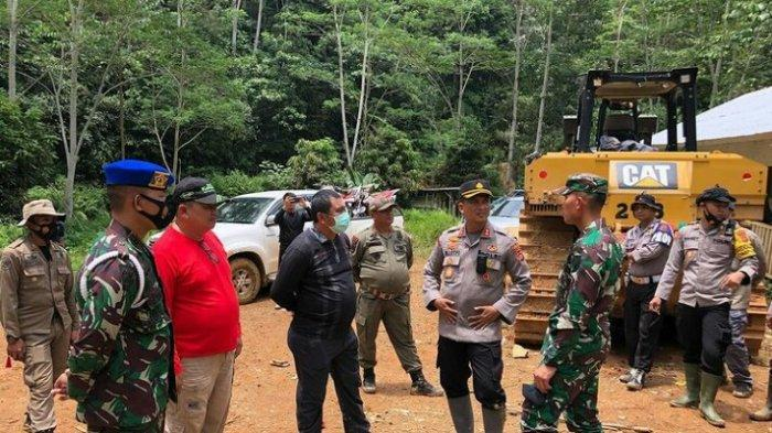 Razia PETI di Bungo, Ekskavator dan Mesin Robin Diamankan