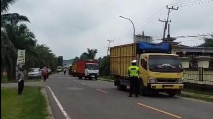 Kerap Terjadi Kecelakaan Lalu Lintas Satlantas Polres Batanghari Razia Truk Angkutan Batu Bara