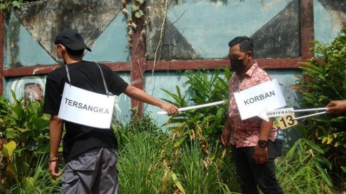 Rekonstruksi Pengeroyokan, Anggota Geng Motor di Kota Jambi Tewas Setelah Kena Sabet Senjata Tajam