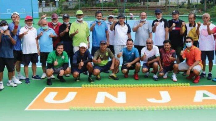 Rektor Unja Resmikan Pemakaian Lapangan Tenis Outdoor di Kampus Unja Telanaipura