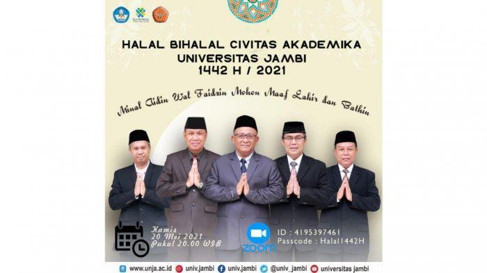 Prof H Sutrisno Pimpin Langsung Takbiran dan Halal bi Halal Universitas Jambi Secara During