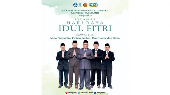 Rektor Universitas Jambi Ucapkan Selamat Hari Raya Idul Fitri 1442 H