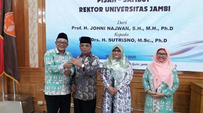 Akrab, Rektor Unja Prof. Sutrisno Saat Bertemu Prof. Johni Najwan