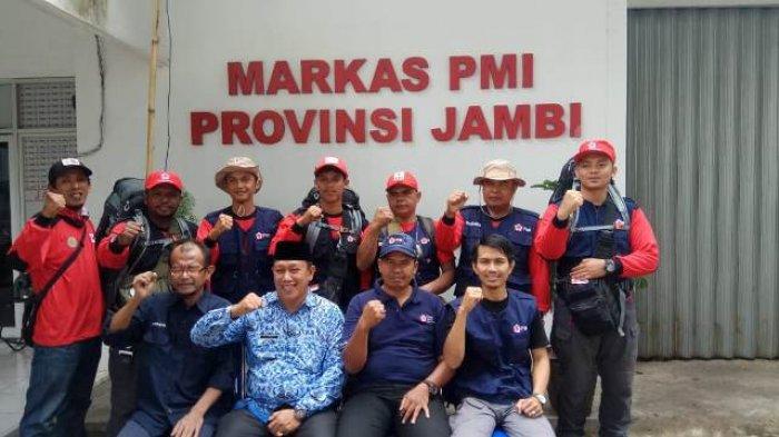 PMI Jambi Kirim Enam Relawan untuk Korban Gempa Palu-Donggala