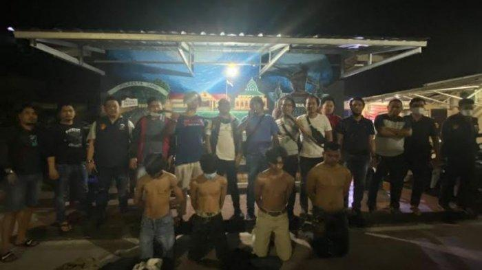Polisi dan Ketua RT 37 Kenali Besar Kota Jambi Tangkap 5 Orang Diduga Anggota Geng Motor