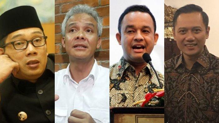 TERBARU Hasil Survei Capres 2024, Prabowo-Sandi Melorot Digerus Ganjar dan Kang Emil, Anies dan AHY?