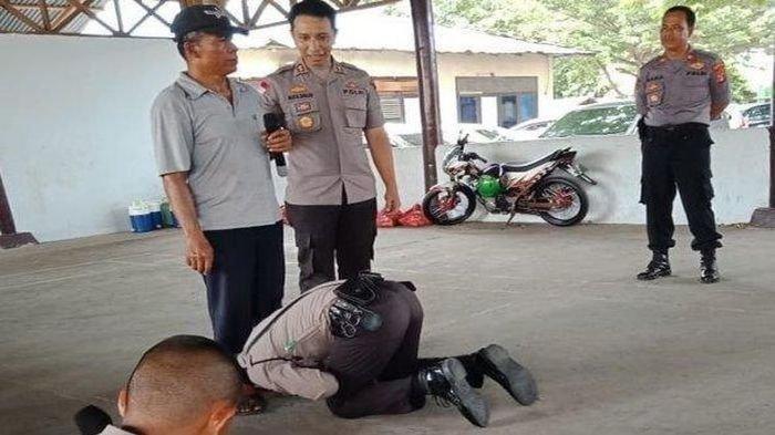 Lulus Jadi Polisi, Kisah Anak Tukang Sate Sujud dan Cium Kaki Bapak Depan Komandannya