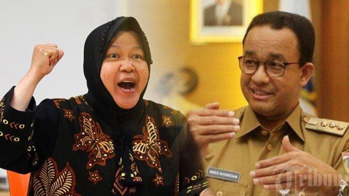 Popularitas Risma di Pilgub DKI Jakarta Meningkat, Kini Salip Anies Baswedan dan Sandiaga Uno