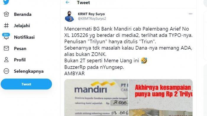 Roy Suryo Komentari Tulisan Bilyet Giro Rp 2 T Heriyanti yang Typo : Kalau Uangnya Ada Nggk Masalah