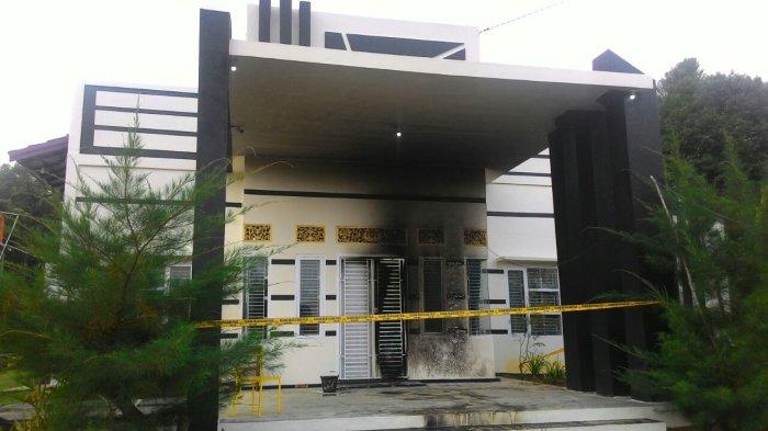 Rumah Komisioner KPU Tebo Ryance Juskal Dibakar