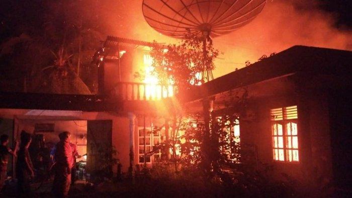 Kebakaran di Batanghari, Rumah Pensiunan Polri di Muara Bulian Ludes Terbakar, Pemilik di Luar Kota