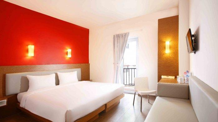 Tampilan kamar di Amaris Hotel Muara Bungo, memberikan kenyamanan bagi pengunjung yang menginap.