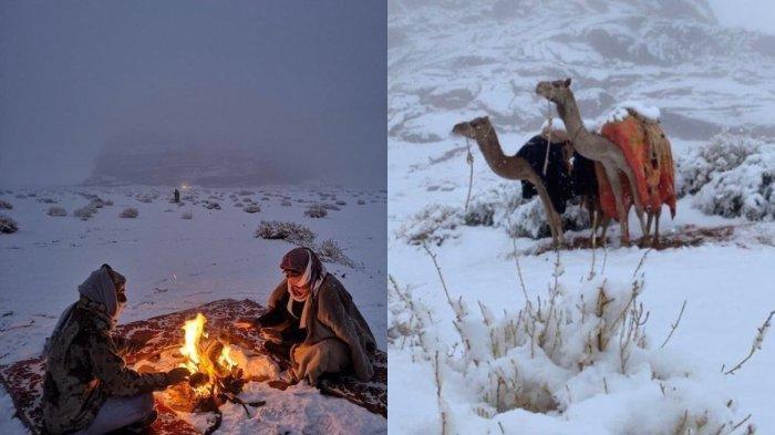 Salju Selimuti Kota Tabuk di Arab Saudi, Fenomena Langka Ini Penjelasan Ahli Cuaca Barat