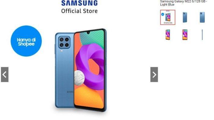 Diskon Hp Samsung Hari ini, Samsung Galaxy M22 Mendapat Diskon Hingga 7 Persen