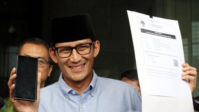Ini Posisi Sandiaga Uno saat di Kabinet Jokowi, Bagian Rekonsiliasi 01 dan 02, Info A1 Neta S Pane