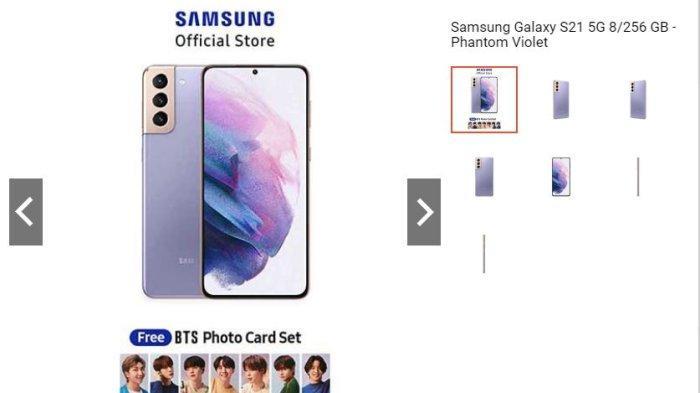 Samsung Galaxy S21 Didiskon Hingga 10 Persen, Dapatkan Juga Free BTS Photo Card Set