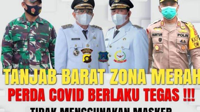 Satgas Covid-19 Tanjab Barat Akan Berlakukan Denda Rp 50 ribu Bagi Yang Tidak Gunakan Masker
