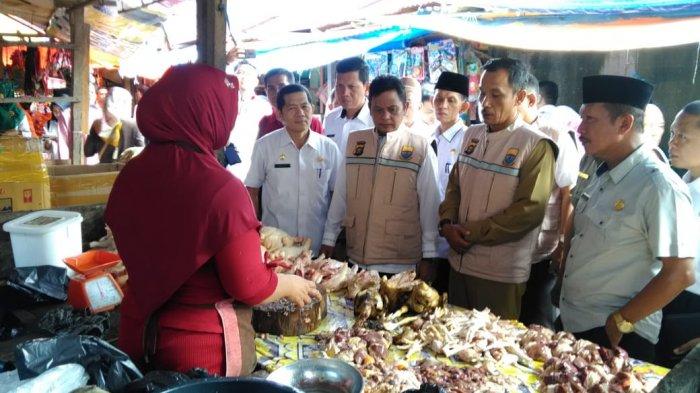 Satgas Pangan Sidak Pedagang Daging di Sarolangun
