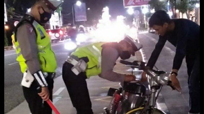 Ditlantas Polda Jambi Razia Knalpot Brong, 110 Kendaraan Sudah Diamankan, Pelaku Didenda Rp250 Ribu