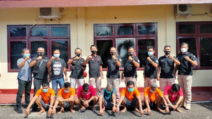 7 Orang Diamankan dalam Operasi Antik,Sita Sabu dan Esktasi Asal Sumsel