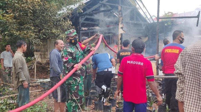 Kebakaran Merangin, Diduga Konsleting Listrik Rumah Sualjimah Hangus Terbakar