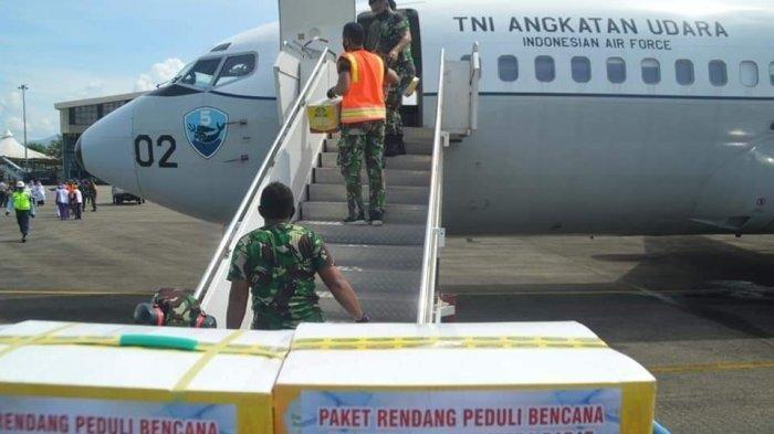 340 Kilogram Rendang Buat Korban Mamuju, Diangkut Pakai Pesawat TNI AU Boeing A 7302 Intai Maritim