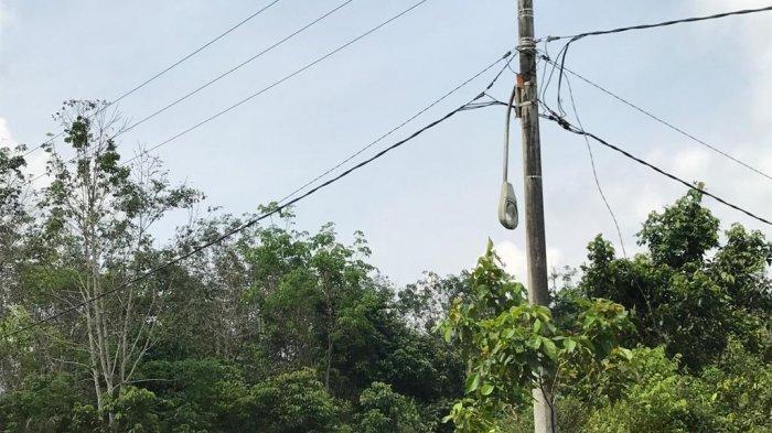Sejumlah Lampu Jalan di Desa Jambi Kecil, Muarojambi, Rusak, Bahkan Ada yang Patah