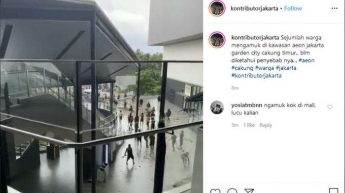 VIRAL Video Warga Geruduk AEON Jakarta Garden City, Dianggap Jadi Penyebab Banjir