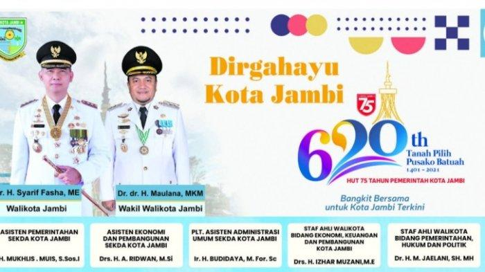 Selamat Hari Jadi ke-620 Tanah Pilih Pusako Batuah Jambi & Dirgahayu ke-75 Pemerintah Kota Jambi