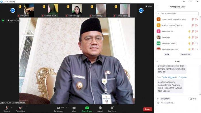 Seminar Kesehatan Yamaha, Wakil Wali Kota Jambi dr Maulana Membuka Kegiatan