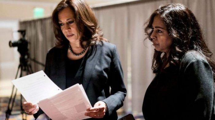 Senator Kamala Harris dan saudara perempuannya, Maya Lakshmi Harris, sangat akrab.
