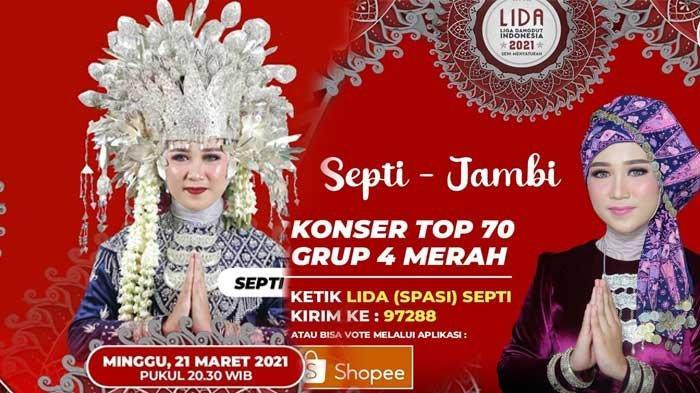 CARA Dukung Septi di LIDA 2021, Duta Jambi yang Malam Ini Tampil di Konser Top 70 Live di Indosiar