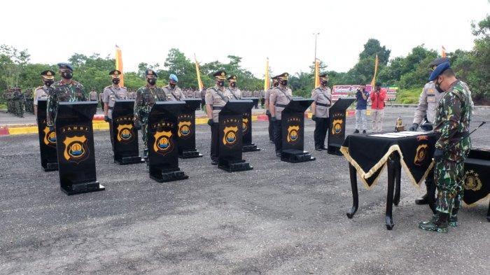 Kapolda Jambi Pimpin Sertijab Lima Pejabat Utama Polda jambi