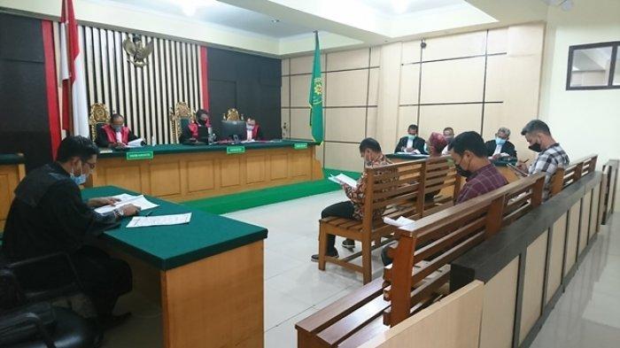 Empat Pimpinan Perusahaan Jalani Sidang Dakwaan Kasus Korupsi Pengaspalan Jalan di kabupaten Tebo