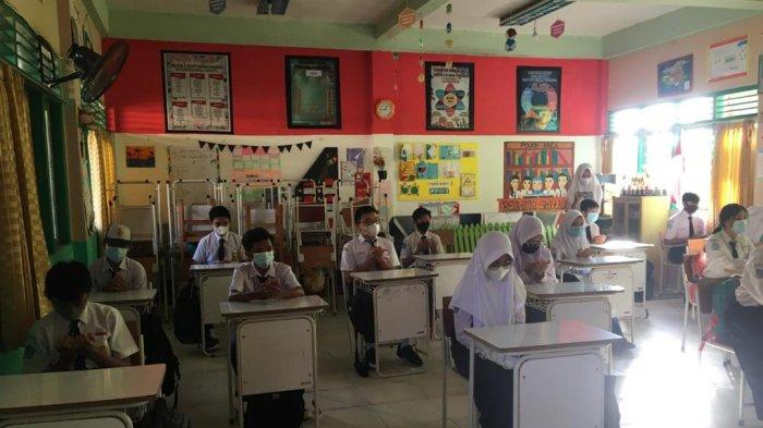 SMPN 2 Kuala Tungkal Simulasikan Belajar Tatap Muka, SekolahTunggu Instruksi Dinas Pendidikan