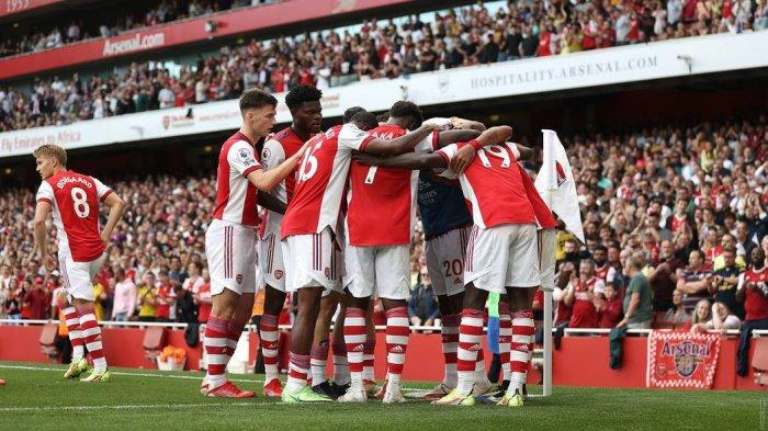 Skuad Arsenal musim 2021-2022 yang kini sudah meringsek ke papan klasemen 10 besar