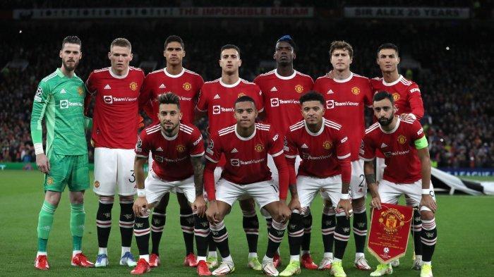 Skuad Manchester United saat menjamu Villarreal di penyisihan grup Liga Champions