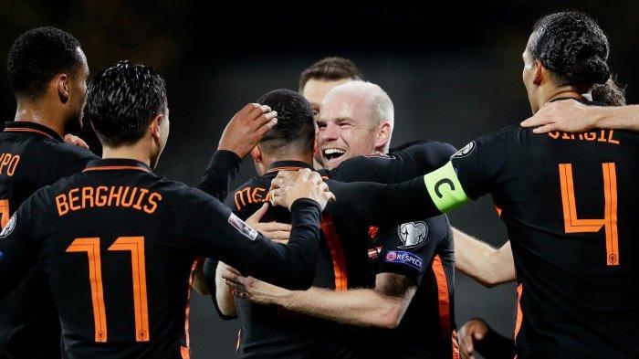 HASIL Kualifikasi Piala Dunia 2021: Belanda di Puncak Grup G Usai Kalahkan Latvia 0 - 1