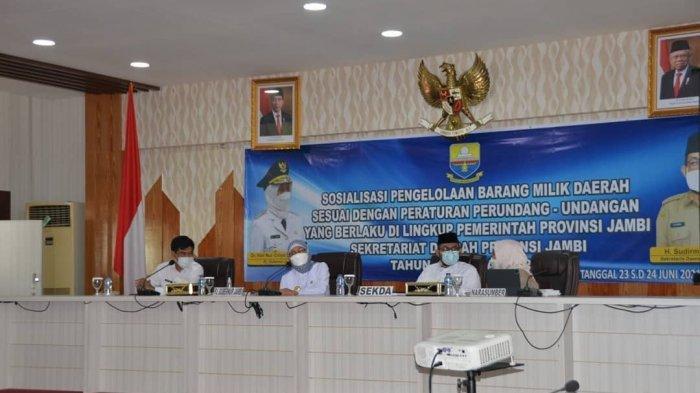Pj.Gubernur Jambi Dr.Hari Nur Cahya Murni, M.Si membuka secara resmi sosialisasi Peraturan Pemerintah Nomor 28 tahun 2020 tentang perubahan atas Peraturan Pemerintah