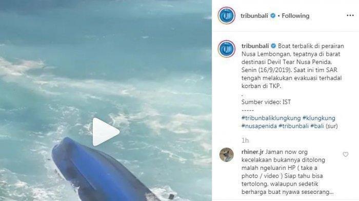 Detik-detik Sepeedboat Diterjang Ombak dan Terbalik di Bali, 2 Turis Asing Tewas!