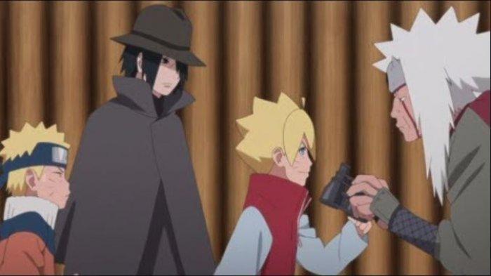 Full Streaming Boruto Episode 136 Subtitle Indonesia, Perpisahan Boruto dan Sasuke dengan Jiraiya