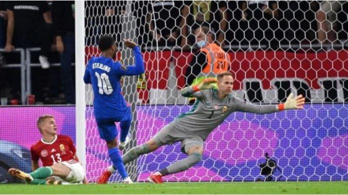Sterling menciptakan Gol ke gawang Hungaria kala dan Timnas Inggris menang besar
