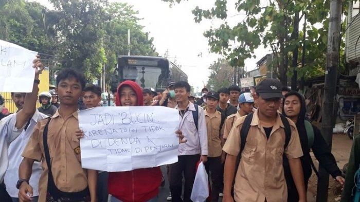 129 Pelajar Diamankan Gara-gara Merusak Mobil Polisi Saat Unjuk Rasa, Niat ke Jakarta Pun Gagal