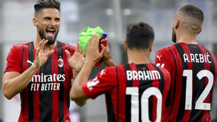 Striker AC Milan, Olivier Giroud dan Ante Rebic serta Brahim Diaz