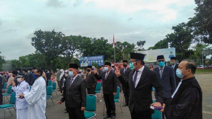 Suasana Prosesi Pelantikan dan Sumpah Jabatan 140 Pejabat oleh Wali Kota Jambi