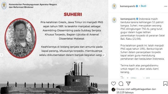 Siapa Sosok Suheri PNS Korban KRI Nanggala? Teryata Bukan Orang Sembarang, Kini Dapat Jaminan Jokowi