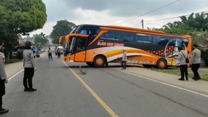 Tak Bisa Tunjukkan Surat Keterangan Bebas Covid-19, Empat Bus yang Melintasi Jambi Palembang Disuruh Polisi Putar Balik