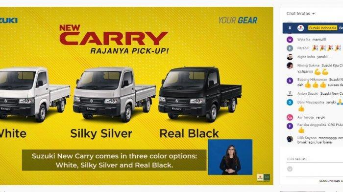 Suzuki Luncurkan New Carry Pick Up, Dilengkapi dengan Sistem Keamanan Alat Pemadam Api Ringan