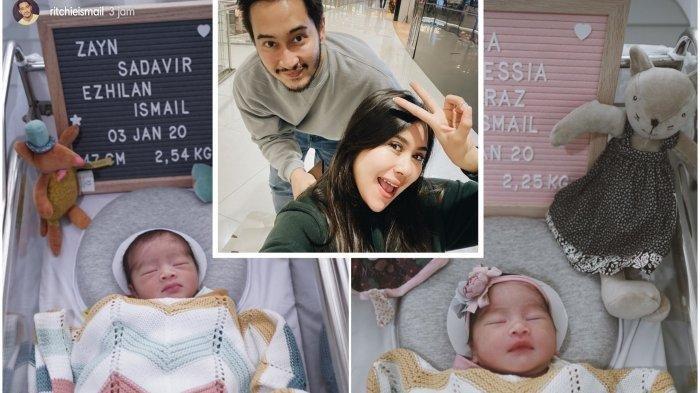 Syahnaz Sadiqah, Adik Raffi Ahmad Melahirkan Bayi Kembar, Ini Foto Lucu Keponakan Nagita Slavina