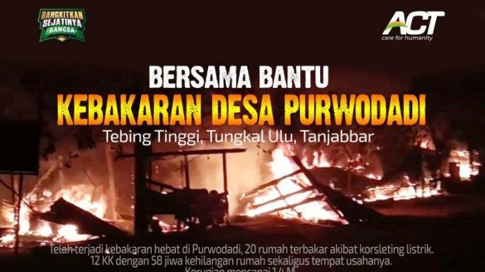 ACT Ajak Masyarakat Bantu Penyintas Kebakaran Purwodadi Bangkit Kembali